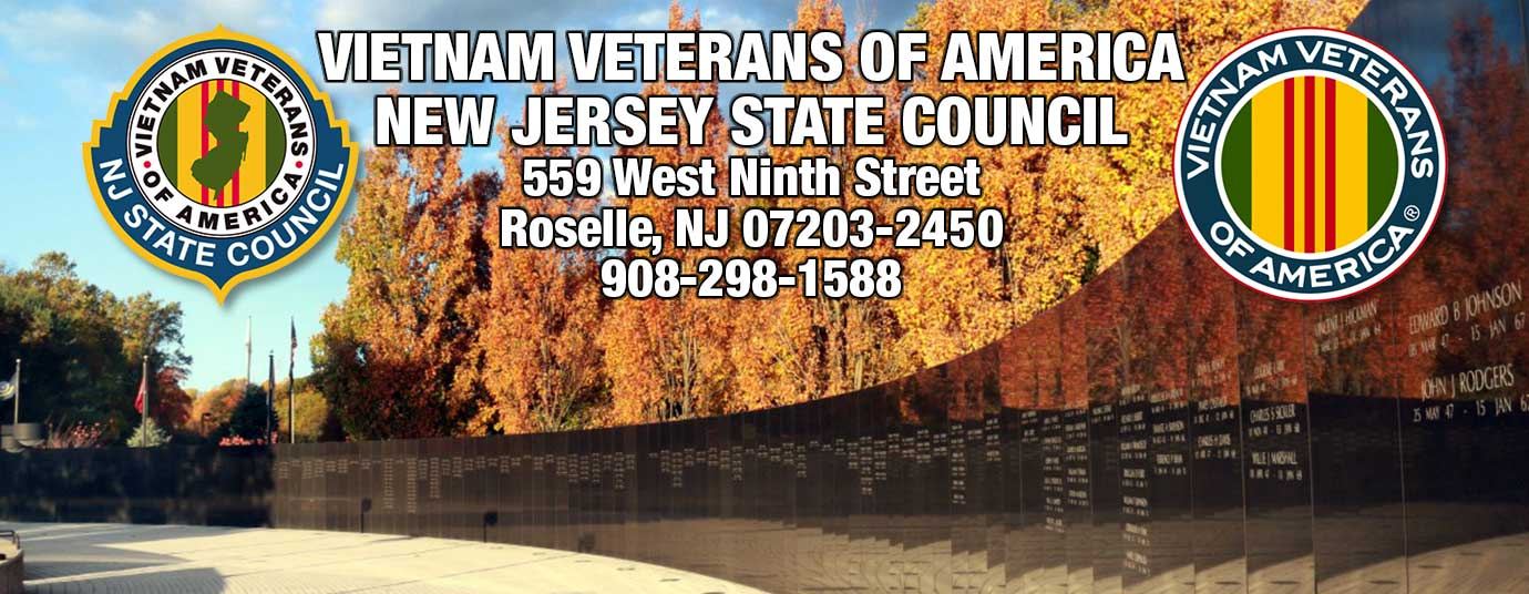New Jersey State Council Vietnam Veterans of America, Inc in Roselle, NJ serving all 17 chapters in all of New Jersey.