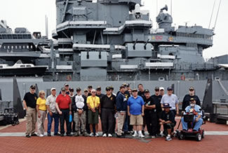Vietnam Veterans from VVA Chapter 899 visit the Battleship New Jersey (BB-62) on September 13, 2017